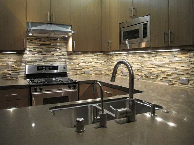 Плитка мозаика на кухне
