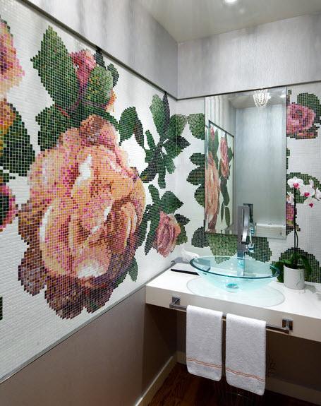 Плитка мозаика в ванной комнате