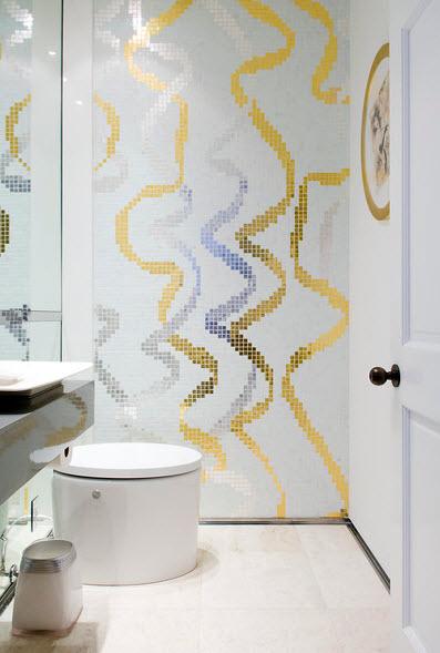 Облицовка плиткой мозаика ванну комнату