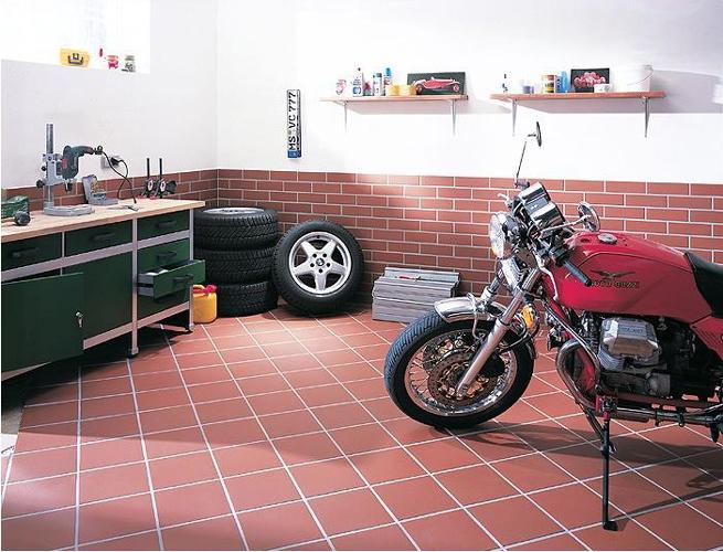 Клинкерная плитка для гаража