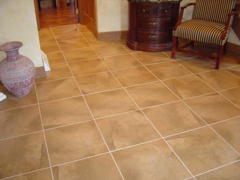 Использование плитки на полу