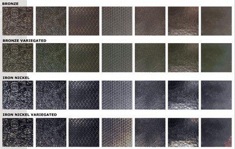 Образцы металлической плитки