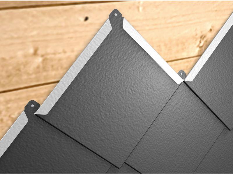 Металлическая фасадная плитка