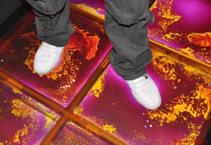 Жидкая плитка на полу
