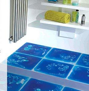 Жидкая плитка в ванной комнате
