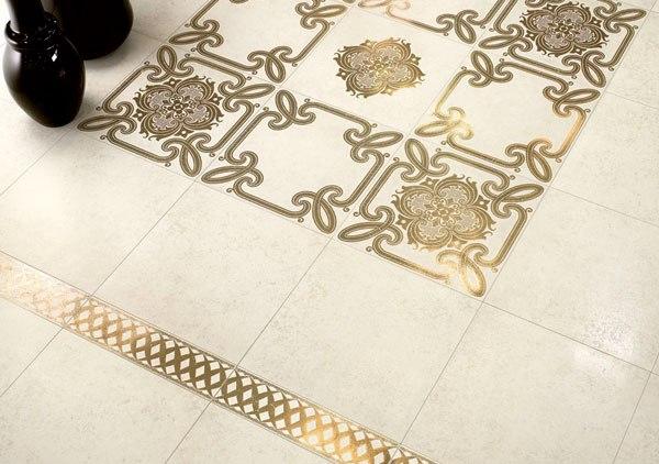 Плитка керамическая с по золотом