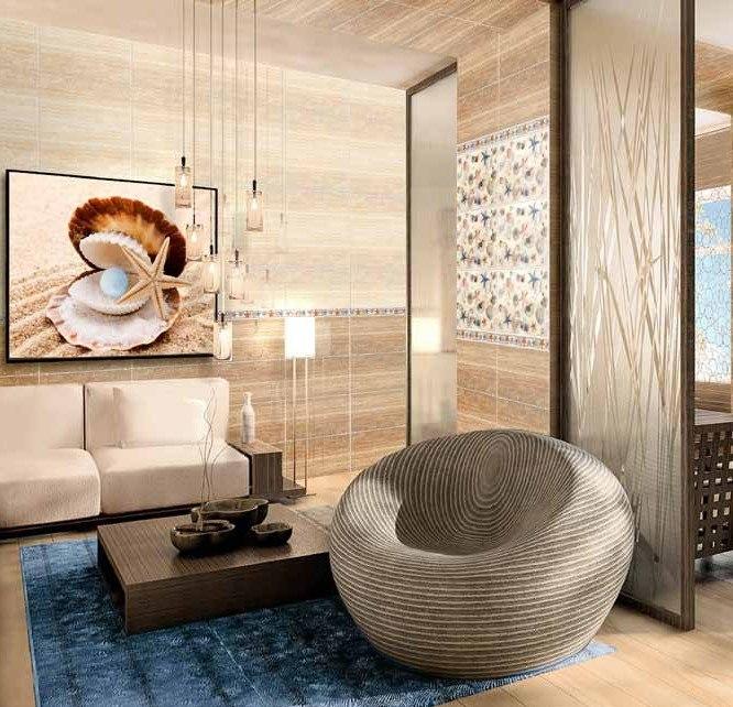 Интерьер с керамической плиткой