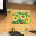 Кафельная плитка для кухни с рисунком
