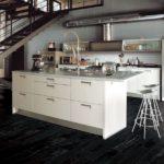 Черно-белая плитка для кухни
