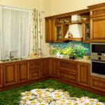 Напольная плитка для кухни с рисунком
