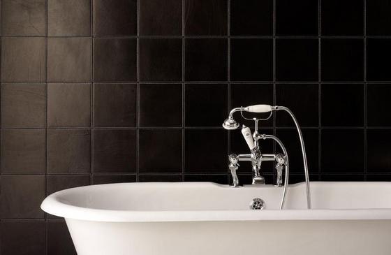 Кожаная плитка в ванной фото