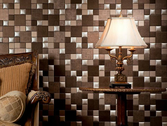 кожаная плитка для стен