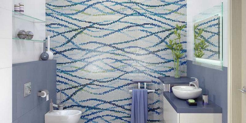 Плитка мозаика в интерьере ванной