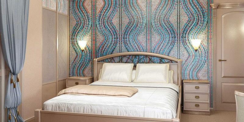 Плитка мозаика в спальне