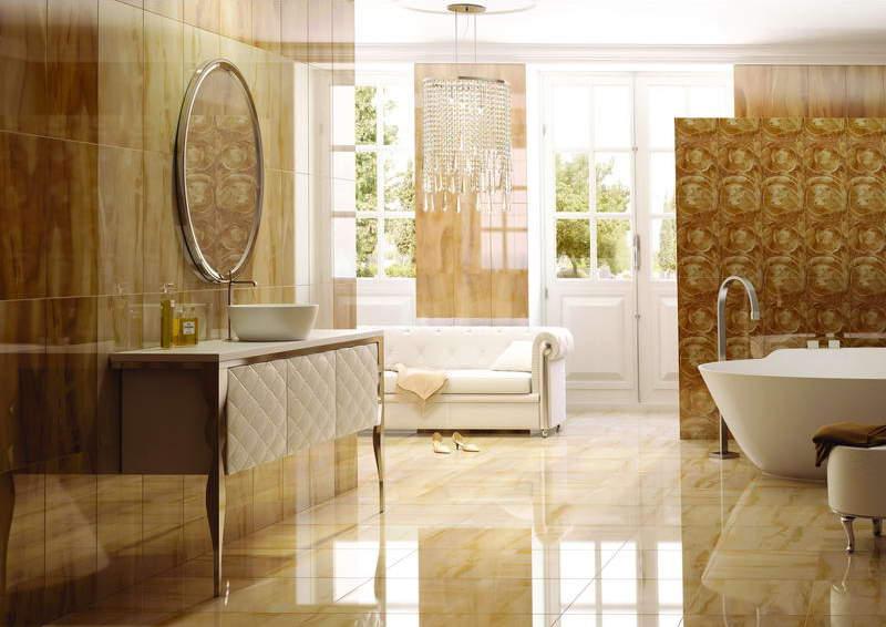 Мраморная плитка для ванной