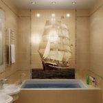 Плитка с рисунков в ванной