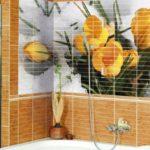 Для маленьких ванных комнат плитка