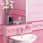 Розовый цвет плитки
