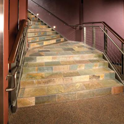 Лестница - сланцевая плитка