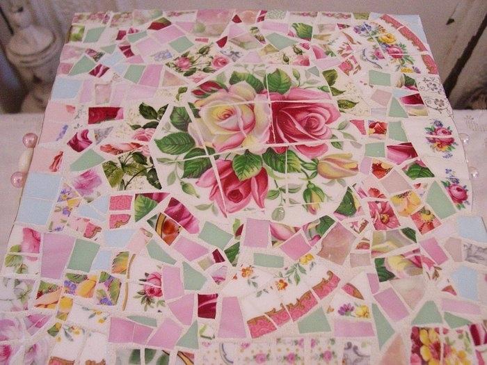 Рисунок мозаика из битой плитки