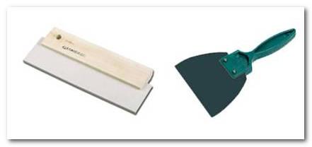 Резиновые шпателя для затирки плитки