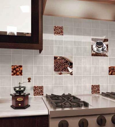 Изображение зерен кофе на плитке
