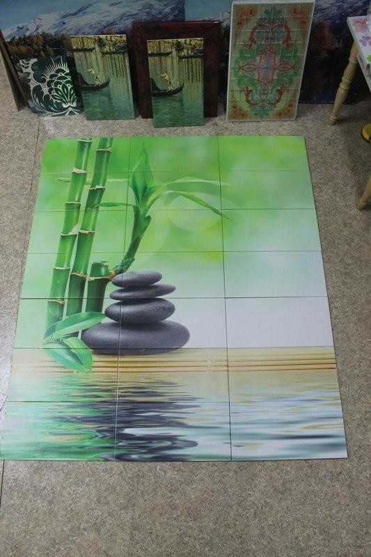Зеленые цвета на плитке
