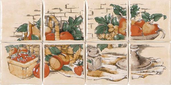 Фрукты изображение на плитке на кухне