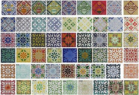 ФИолетовые цвета на настенной плитке