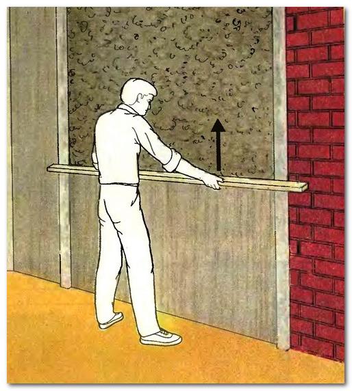 Правильная штукатурка стены по маякам