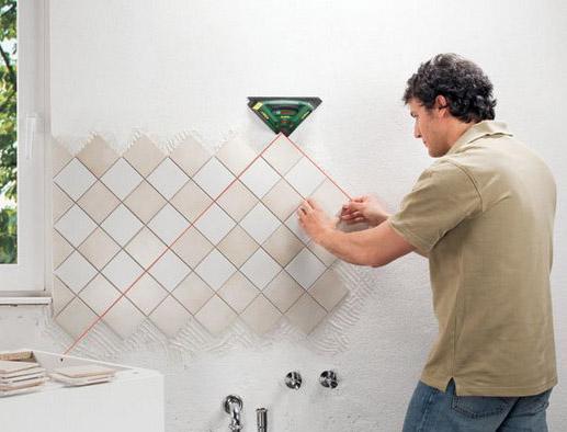 Раскладки плитки по диагонали на кухне