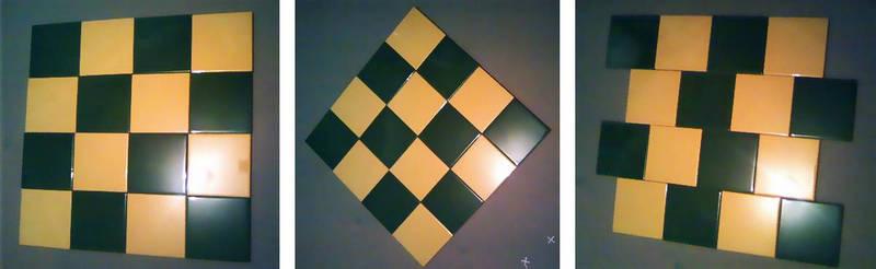 Раскладка плитки в шахматном порядке