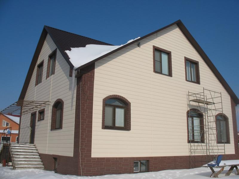 Сандинг при облицовки фасада дома