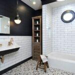 Черно-белая ванная комната: дизайн, фото