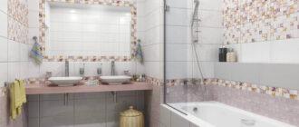 Кафельная плитка для ванной: фото