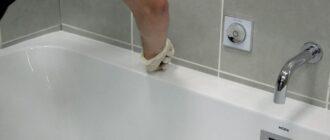 Как очистить герметик от ванны и плитки