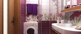 Дизайн ванной комнаты маленького размера: фото