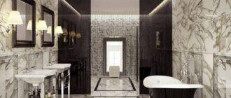 Керамическая плитка под мрамор для ванной