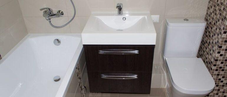 Ремонт в маленькой ванной, совмещенной с туалетом