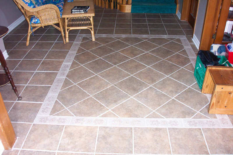 Floor tiles border design