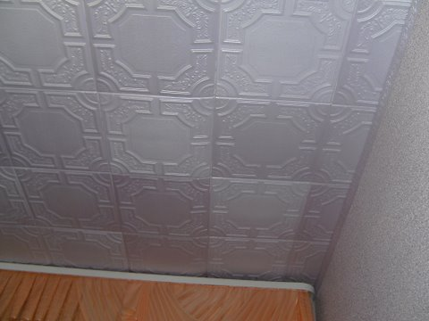 потолочная плитка на стенах фото